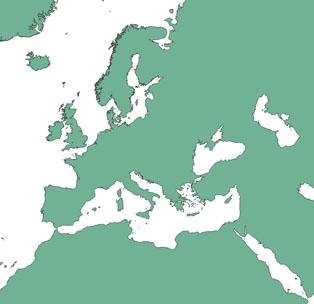extrait des contours terrestres de la base de données NaturalEarth