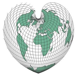 projection mondiale de Bonne
