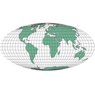 projection mondiale de Mollweide