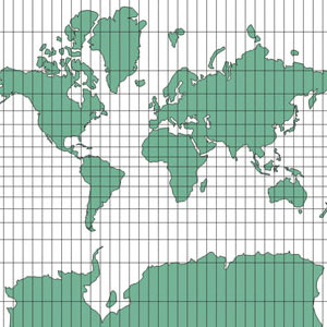 fabrication : projection pseudo-mercator