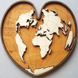 Cartographie coeur projection Bonne