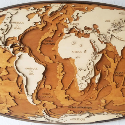 carte du relief mondial en 3D
