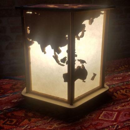 Lampe-monde asie océanie australie japon