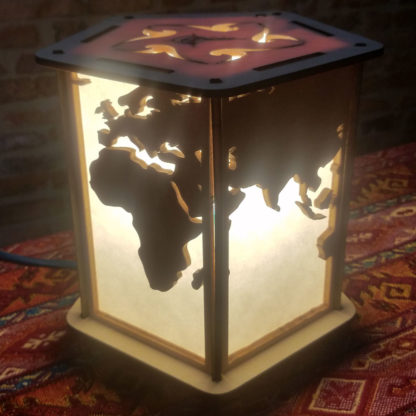 Lampe-monde afrique asie océanie