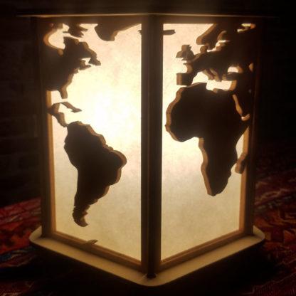Lampe-monde afrique amérique