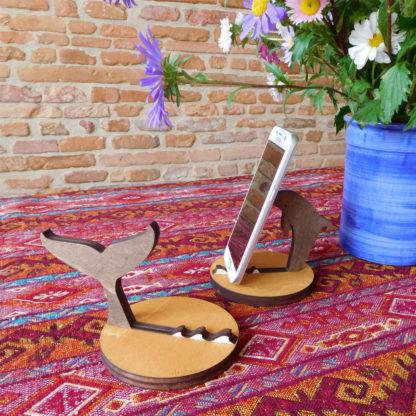 support en bois pour smartphone