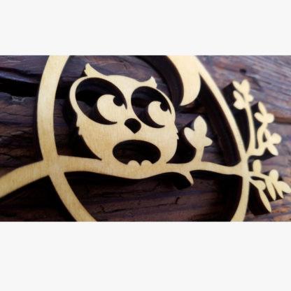 hibou en bois décoration enfant