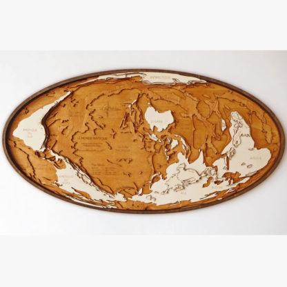 Carte du monde à l'envers