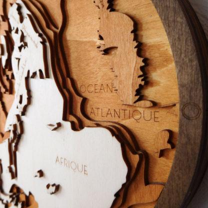 carte du relief océan atlantique afrique