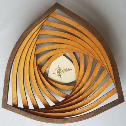 vide-poche bois triangle