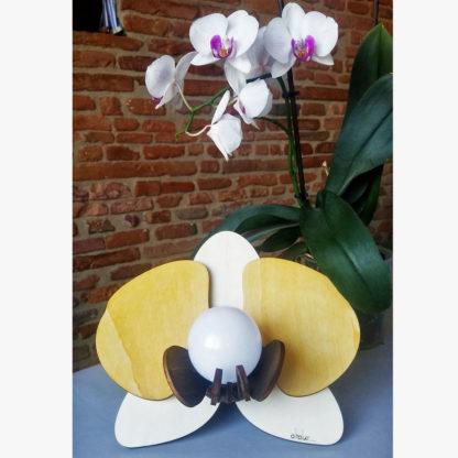 Lampe en bois phalaenopsis