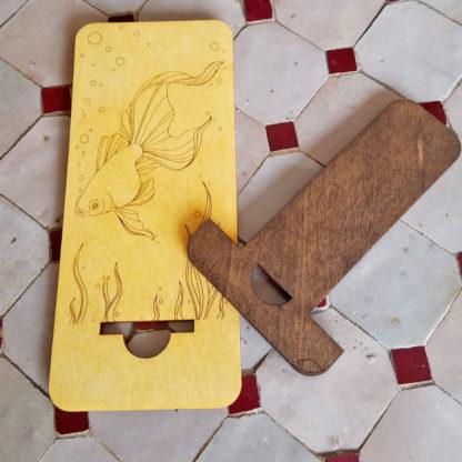 support smartphone bois démontable