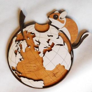 carte du monde originale