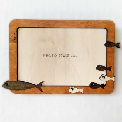 cadre en bois poisson
