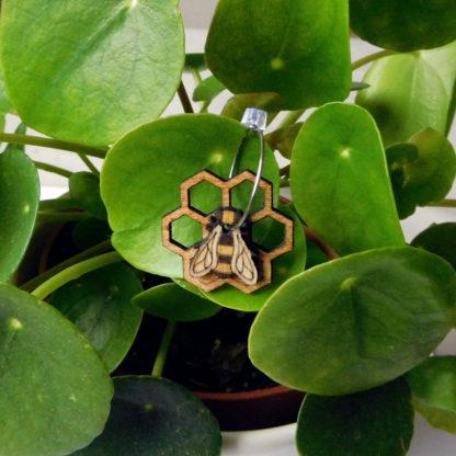 Boucle abeille et rayon de miel
