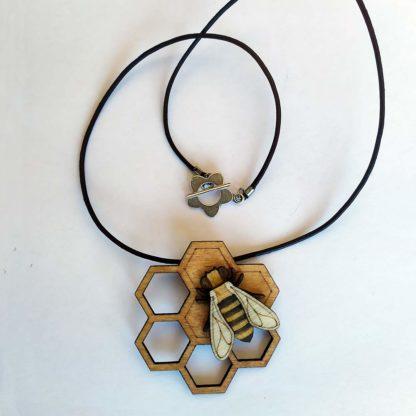 pendentif abeille et miel
