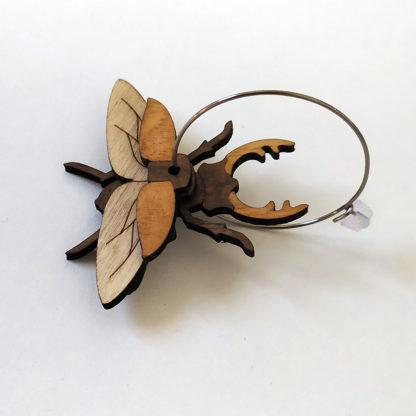 boucle oreille scarabée lucane