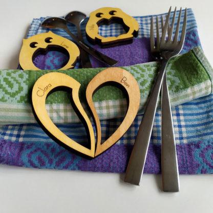 ronds de serviette couple et enfants
