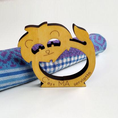 rond de serviette lion personnalisé