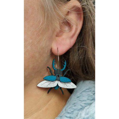 boules oreilles lucane bleues