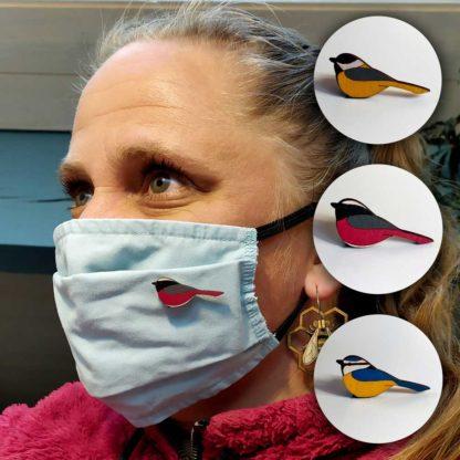 bijou de masque oiseau passereau