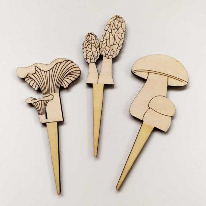 décoration pour plantes en pot champignons