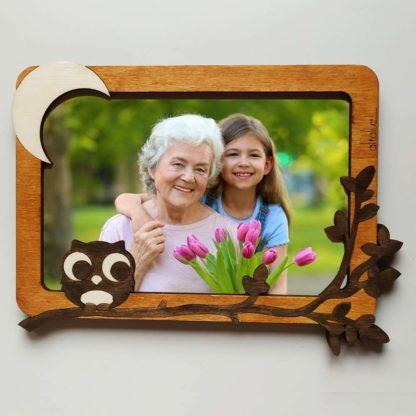 cadre en bois grand mère